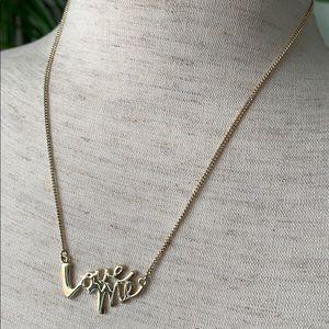 Victoria's Secret Love Me necklace - NWOT.